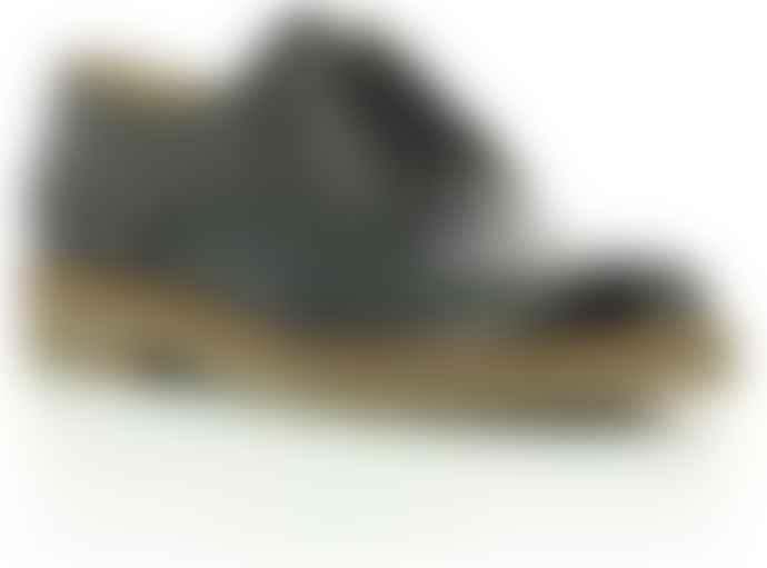 Kickers Black Leather Oxfork Lace Up Derbies Women Shoes