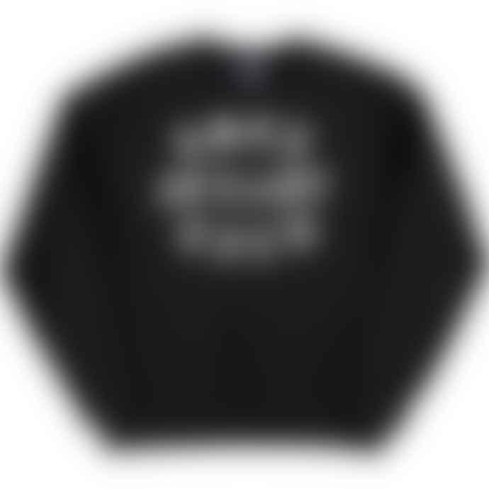 Standard Reference Materials Srm Rock Steady Crew Flock Logo Russell Crew Sweatshirt Black White