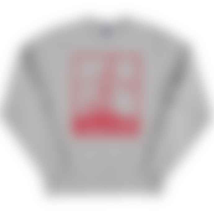 Standard Reference Materials Srm Mexico 86 Pique Russell Crew Sweatshirt Oxford Grey Red