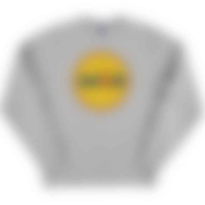 Standard Reference Materials Srm Acid Circle Logo Russell Crew Sweatshirt Oxford Grey