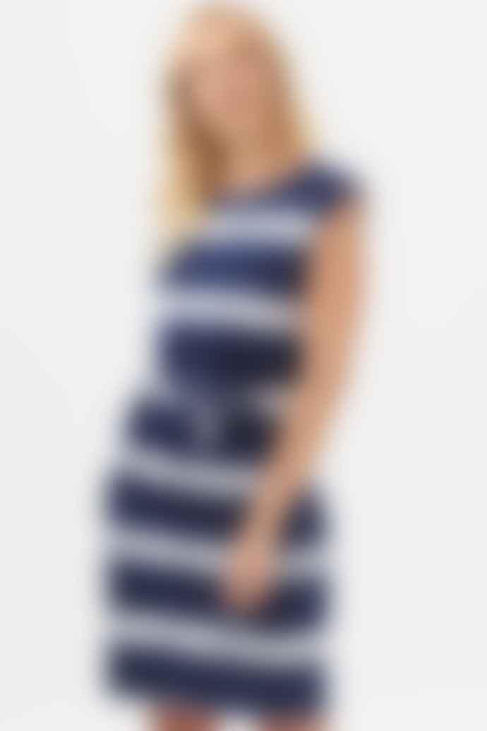Sugarhill Brighton Hetty Tie Dye Marine Stripe Dress