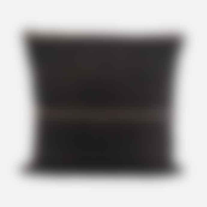 House Doctor Ritika Black Cushion