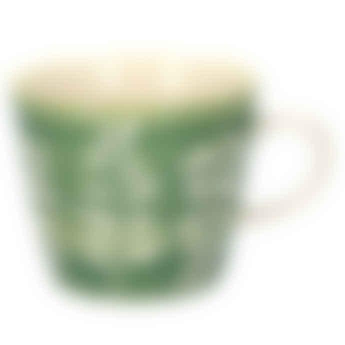 Gisela Graham Green Leaves Ceramic Mug