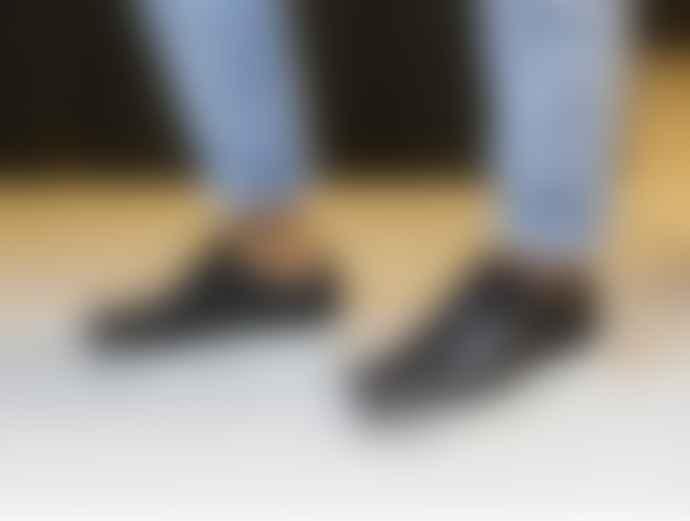Woden Black Leather Sophie Snake Sneaker