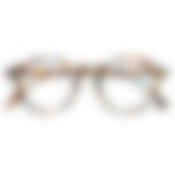IZIPIZI Shape D Blue Tortoiseshell Reading Glasses