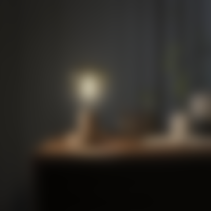 Creative Cables Posaluce Natural Table Lamp with Globe Bulb