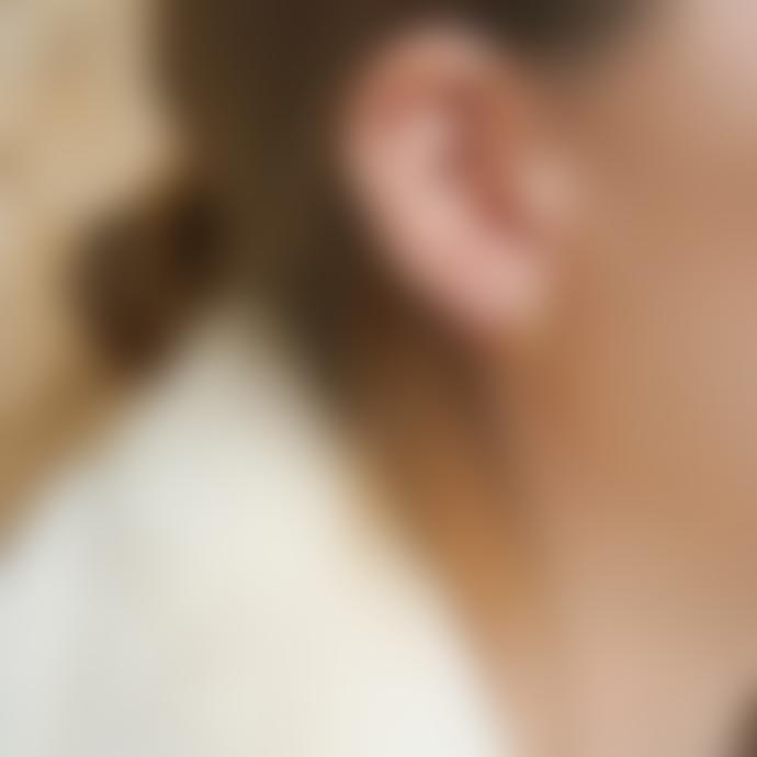 Daisy London Gold Stacked Beaded Eternity Huggie Hoop Earrings