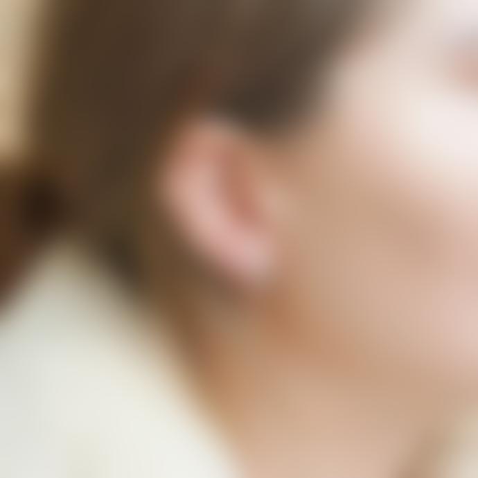 Daisy London Gold Stacked Beaded Huggie Hoop Earrings
