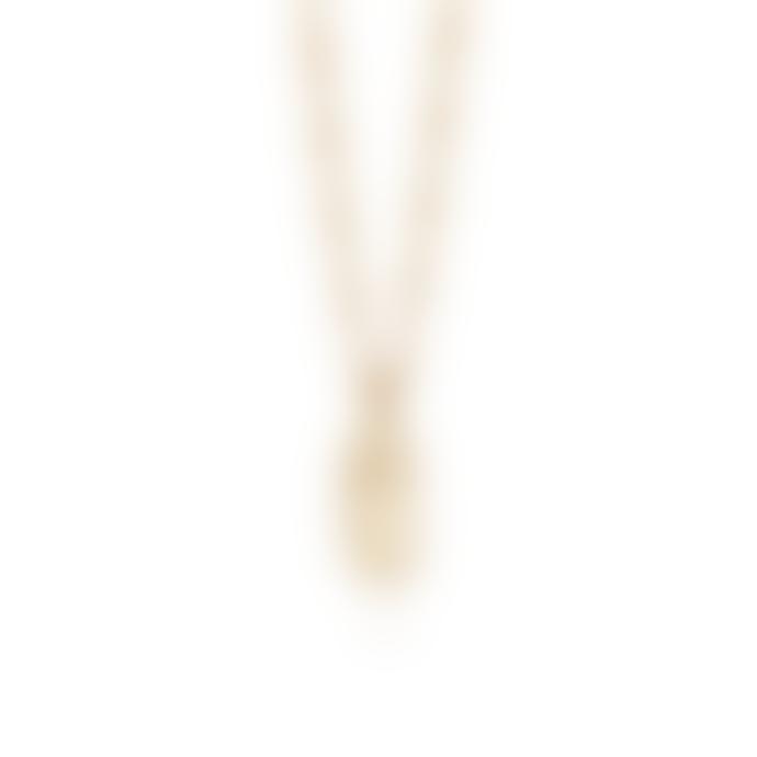 Daisy London Gold Daisy Flower Necklace