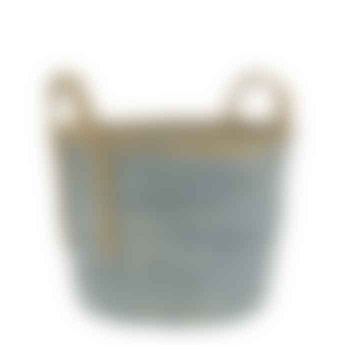 Ib Laursen Blue Rustic Basket Medium