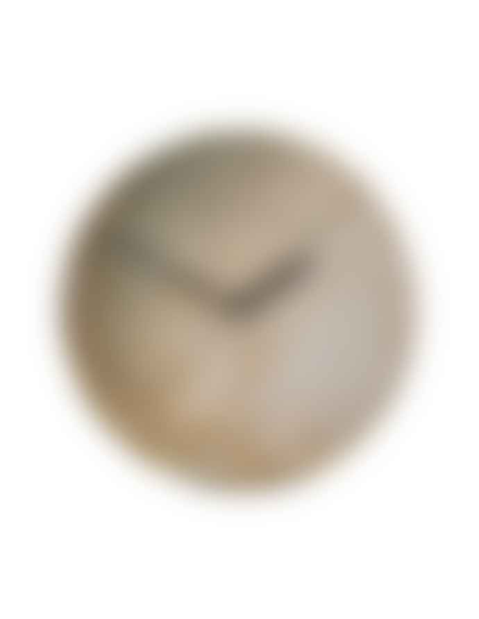 House Doctor Metro Stoneware Wall Clock Brown