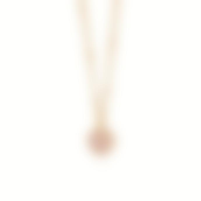 Daisy London Gold Rose Quartz Healing Stone Necklace