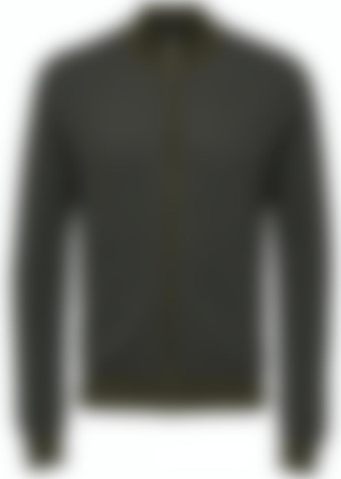 Selected Homme Fernando Full Zip Cardigan - Olive Green Melange