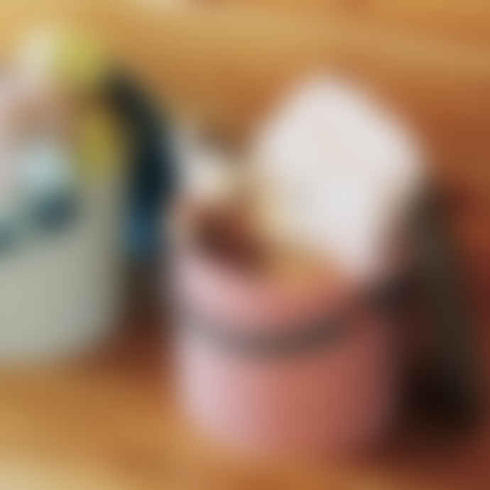 Hachiman Medium Rose-Grey Lidded Storage Bucket