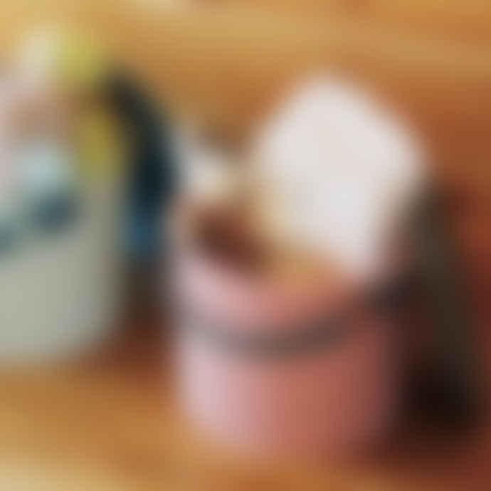 Hachiman Mini Rose-Grey Lidded Storage Bucket
