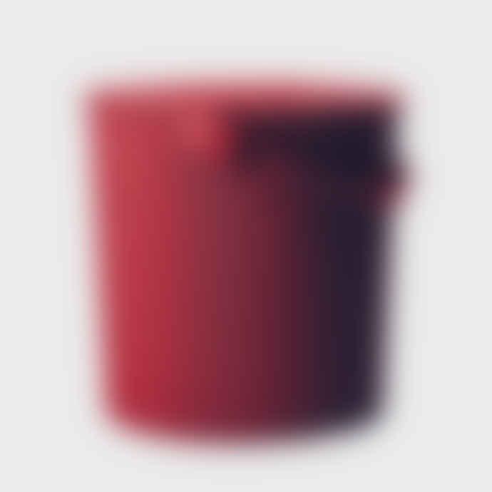 Hachiman Mini Red Lidded Storage Bucket