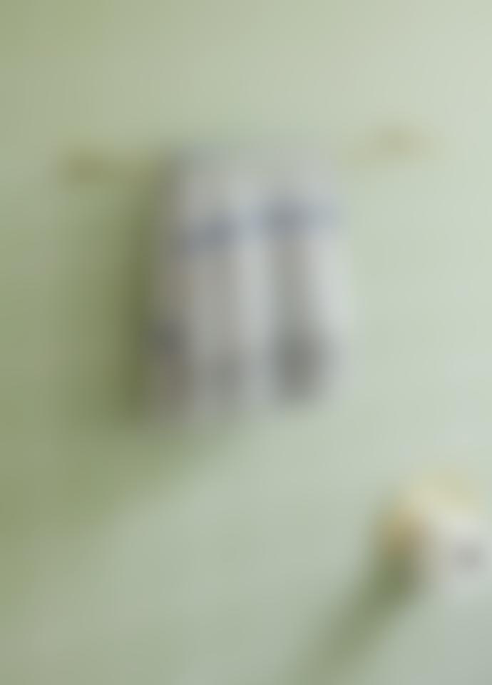 Hubsch A/S 140X200cm Beige Blue and Pink Cotton Plaid