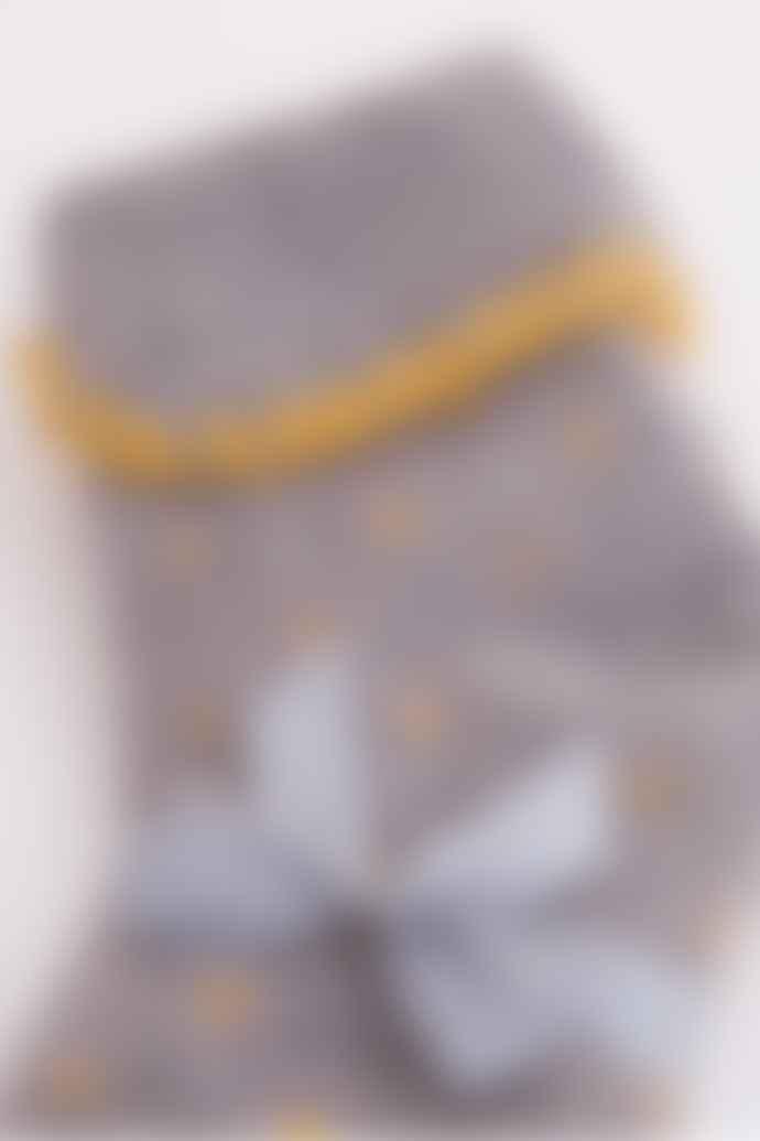 Joya Grey Spotty Wool Blend Socks