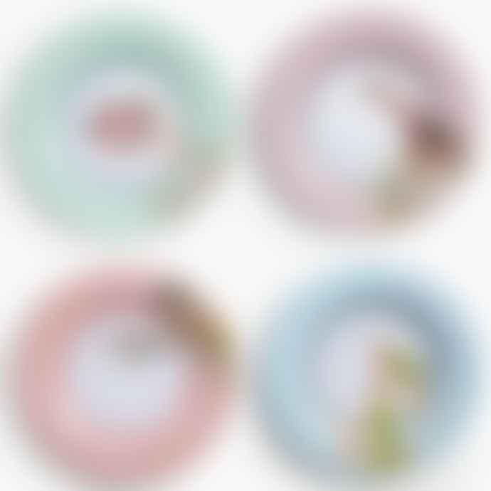Yvonne Ellen Set of 4 Melamine Animal Safari Picnic Dinner Plates