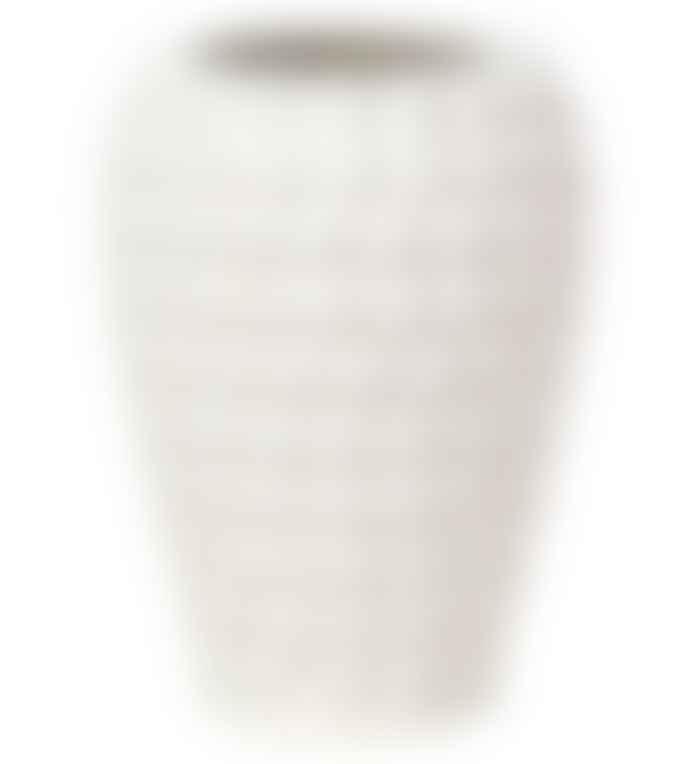 Broste Copenhagen Broste Copenhagen Dotty ceramic vase with white/neutral glaze