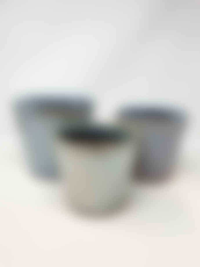 Forest Pearly White Glazed Ceramic Pot Small