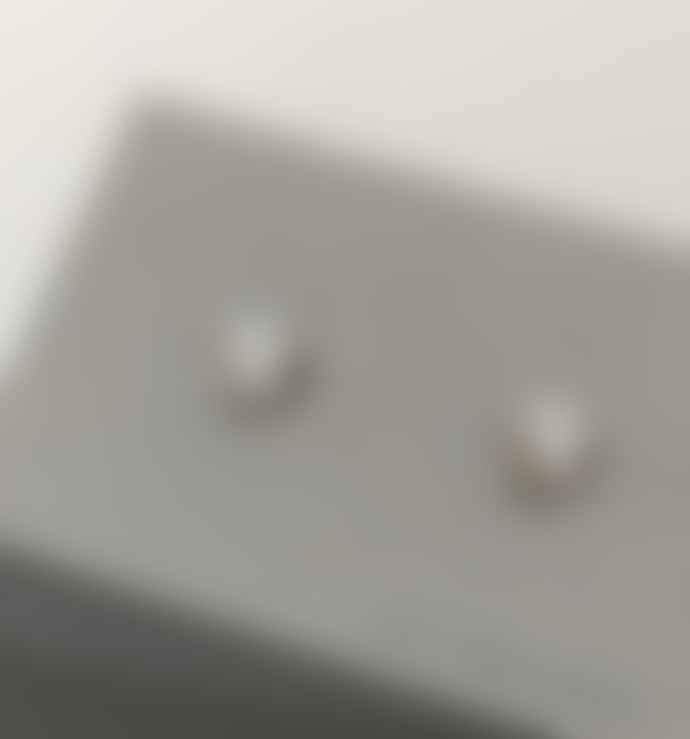 Kei Tominaga Stud Mini Earring Circle Bent Silver