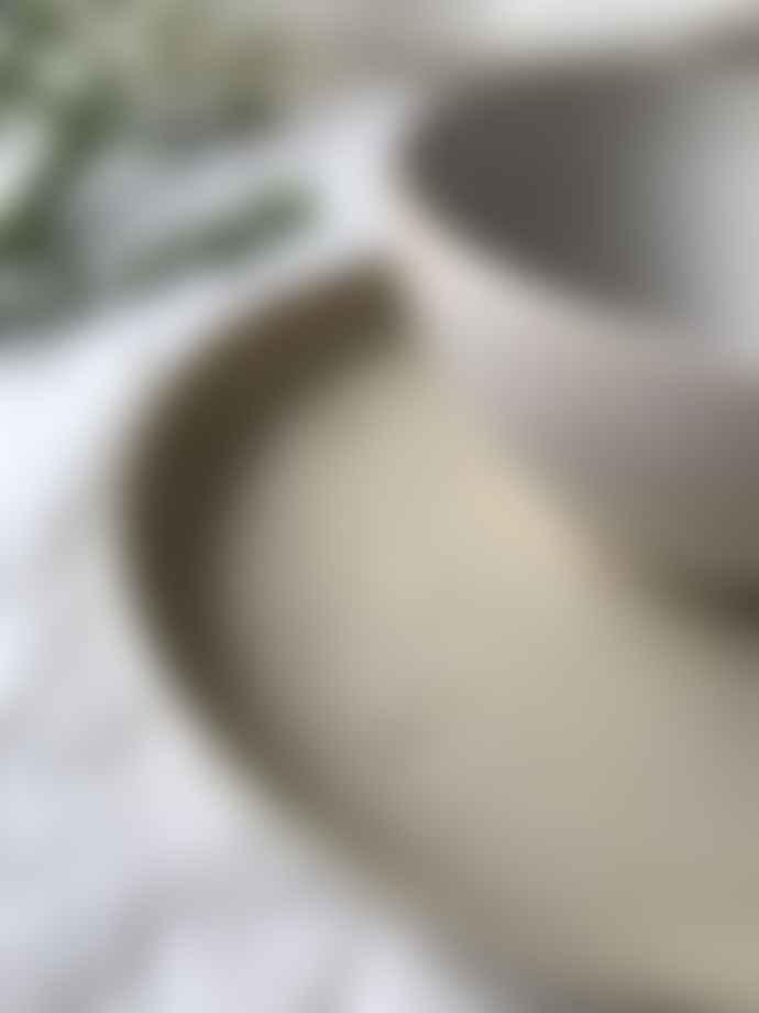 Erika Petersdotter White Matt Lava Ramen Bowl