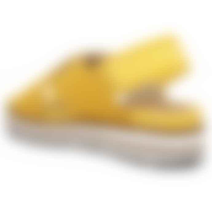 Woden Caroline Suede Sandals in Super Lemon