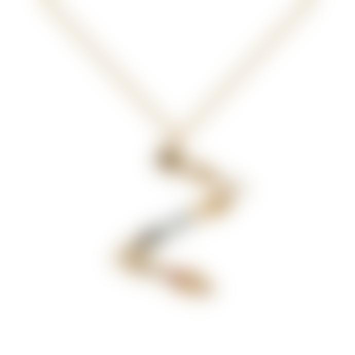 P D PAOLA Sparkling Initial Necklace Gold Letter Z