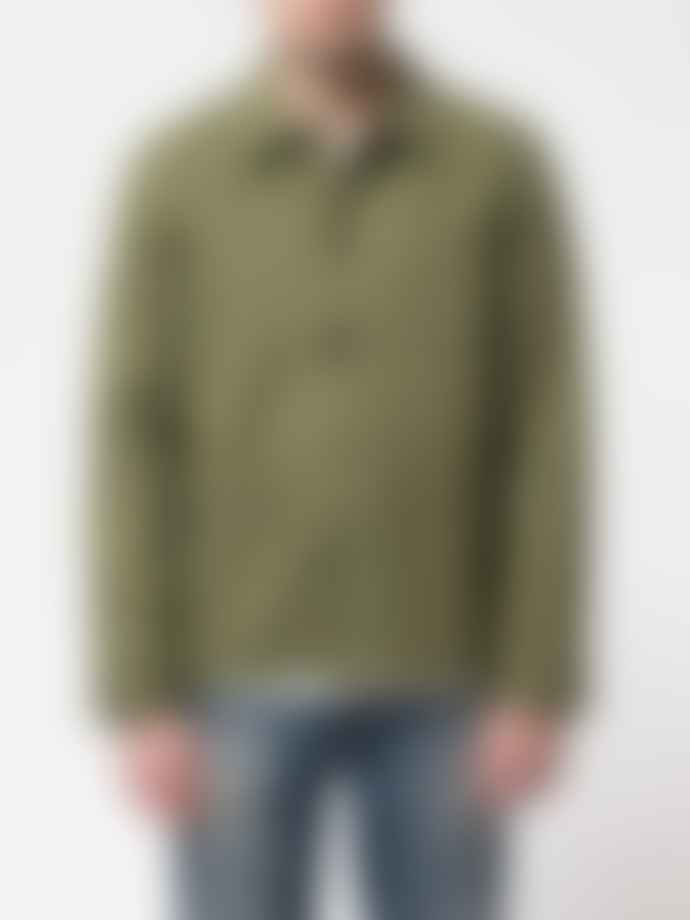 Nudie Jeans Barney Worker Green Organic Cotton Work Jacket