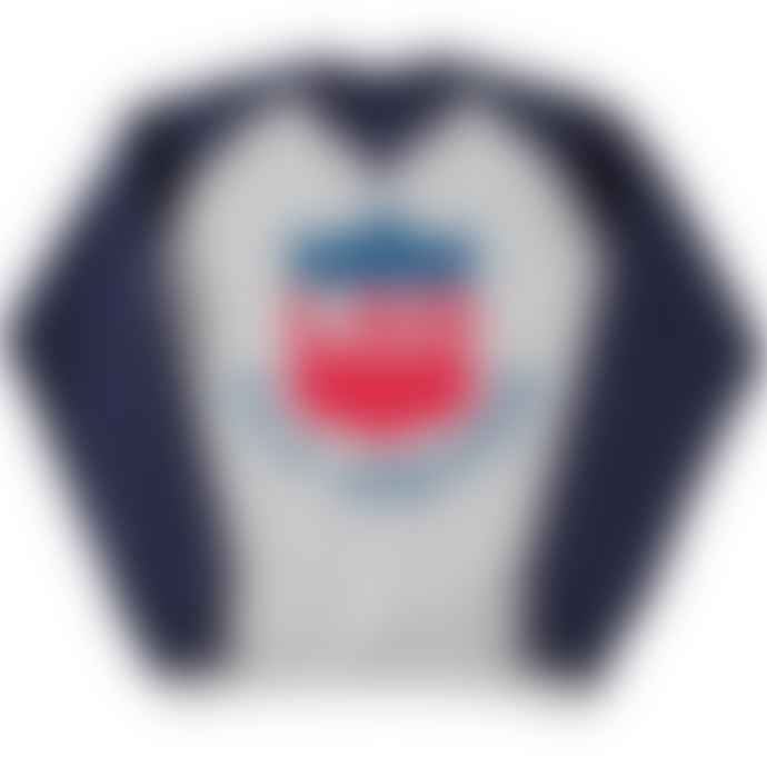Standard Reference Materials Srm Fly United 2 Tone Baseball Sweatshirt Oxford Grey Indigo Blue