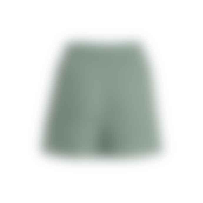 Blend She  Green Linen Blend Shorts