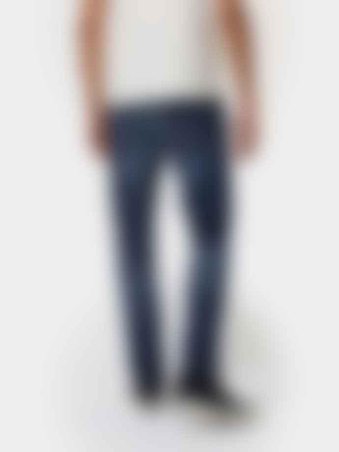 Nudie Jeans Lean Dean Dark Deep Worn Jeans
