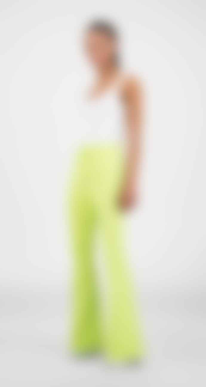 Daily Paper Sharp Green Tape Logo Flair Pants