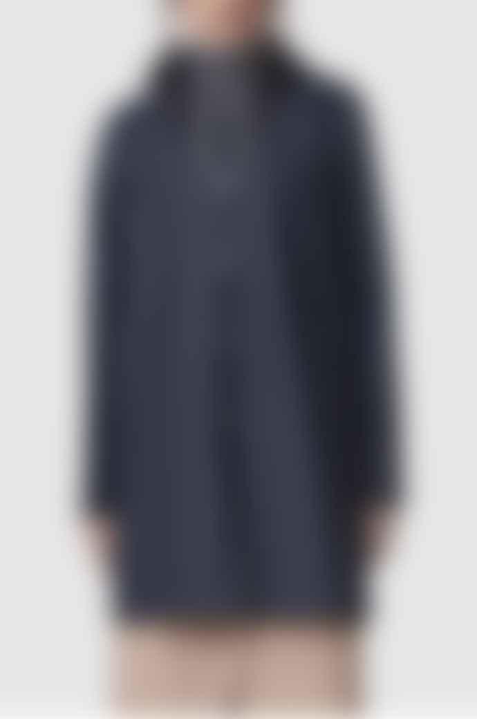 Stutterheim Mosebacke Navy Womens Raincoat