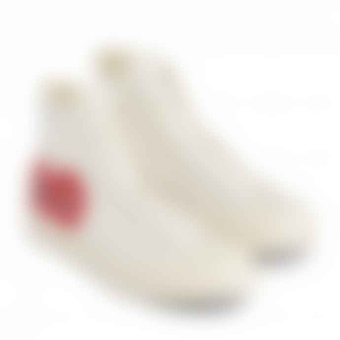 Comme Des Garcons Play X Converse Red Heart Chuck Taylor All Star 70 High White Shoes