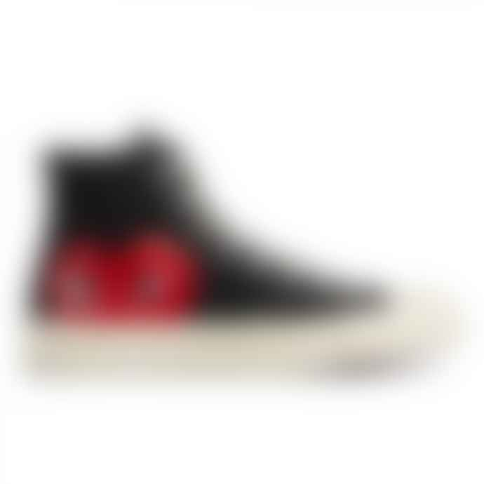 Comme Des Garcons Play X Converse Red Heart Chuck Taylor All Star 70 High Black Shoes