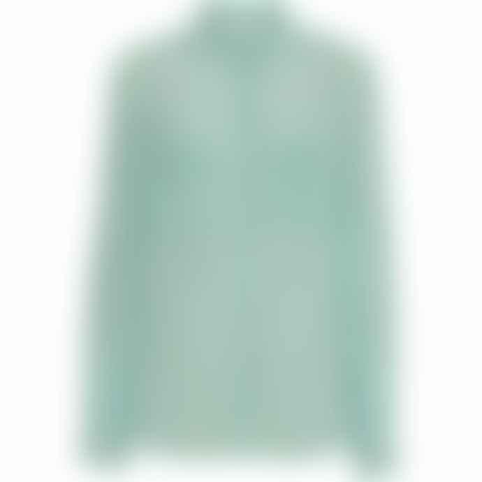 2nd Day Pale Green Gwen Check Blouse
