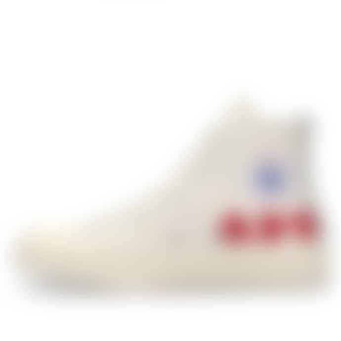 Comme Des Garcons Play X Converse Multi Red Heart Chuck Taylor All Star 70 High White Shoes