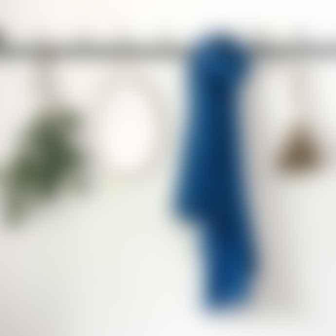 Anza Soft Cotton Scarf In Cobalt Blue