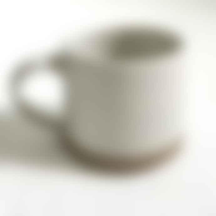 Raine And Humble Handmade Mug In Milk White