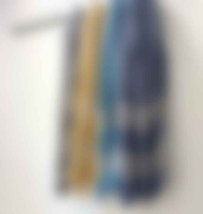 Anza Cotton Hamam Towel In Mustard