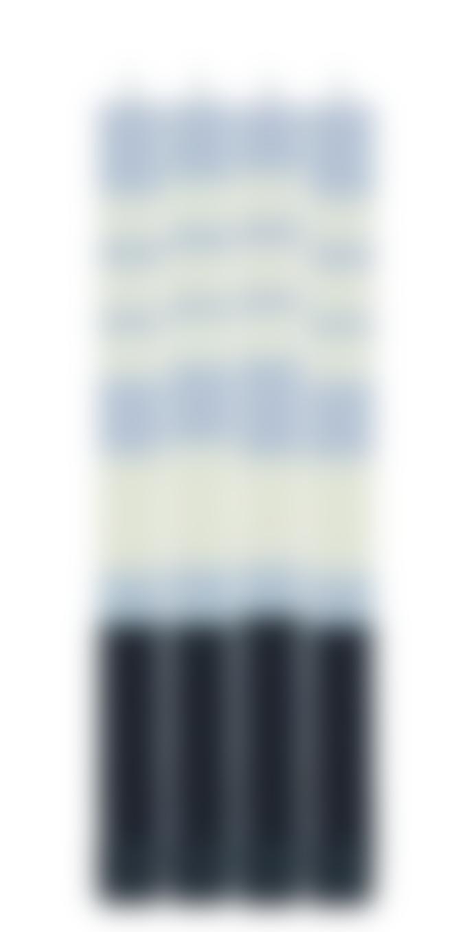 British Colour Standard Jet Black, Pearl White & Dove Grey Eco Dinner Candles 4 Per Pack