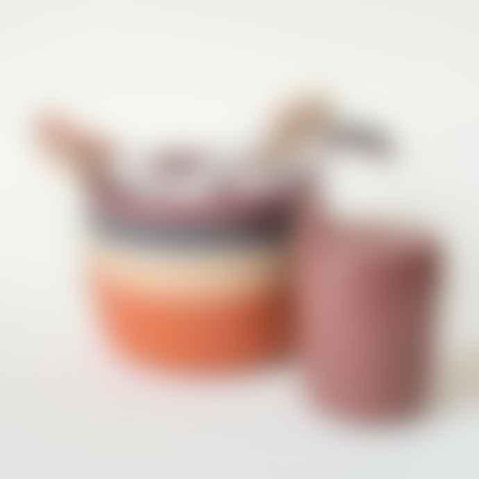 CINK Bamboo Spoons Pack Of Three In Fog Beet and Ocean