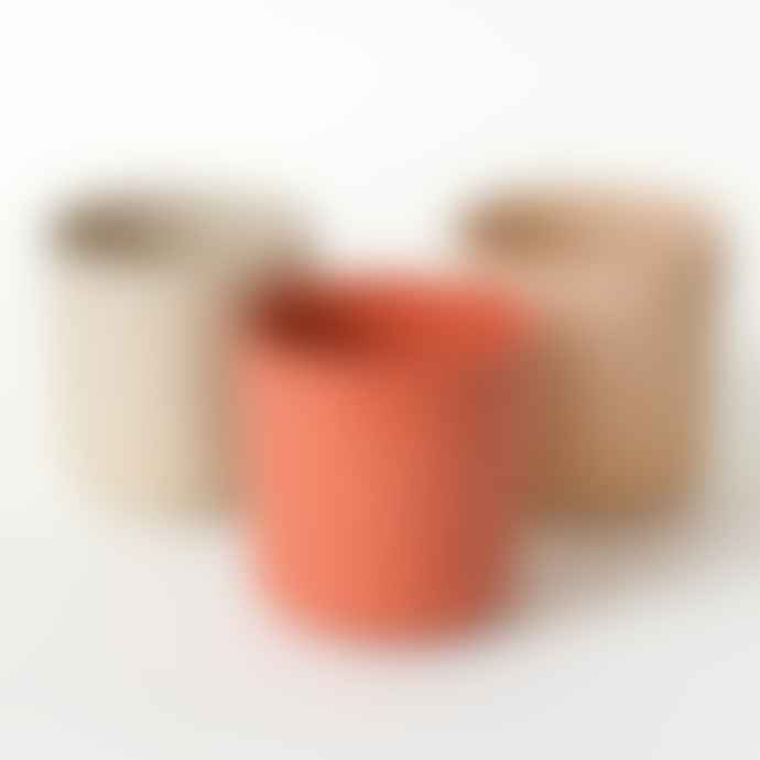 CINK Bamboo Cups Pack Of Three In Fog Rye and Brick
