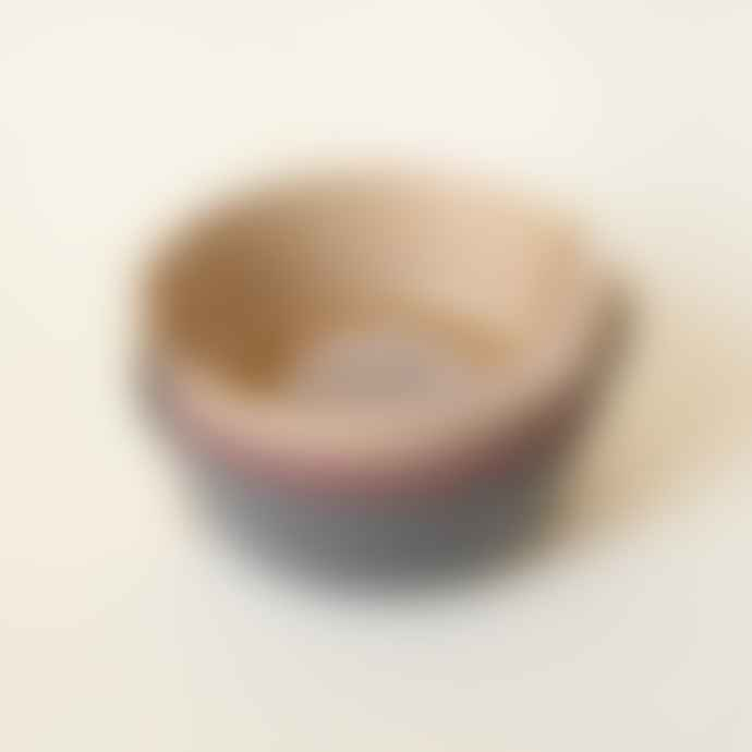 CINK Bamboo Bowls Pack Of Three In Fog Beet and Ocean