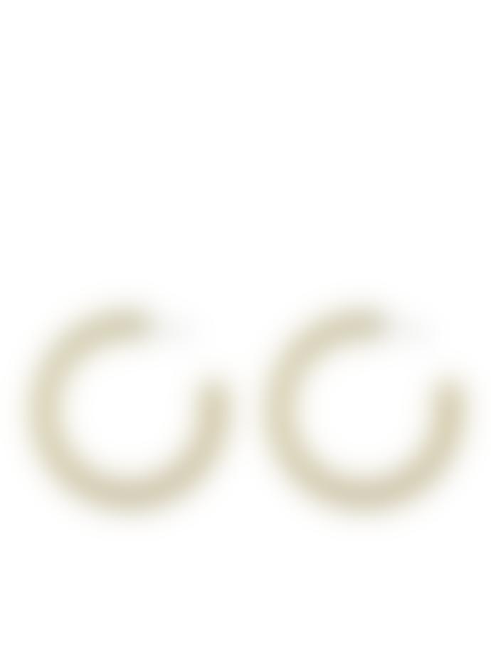 Big Metal Petra Matte Resin Large Hoop Earrings In Cream