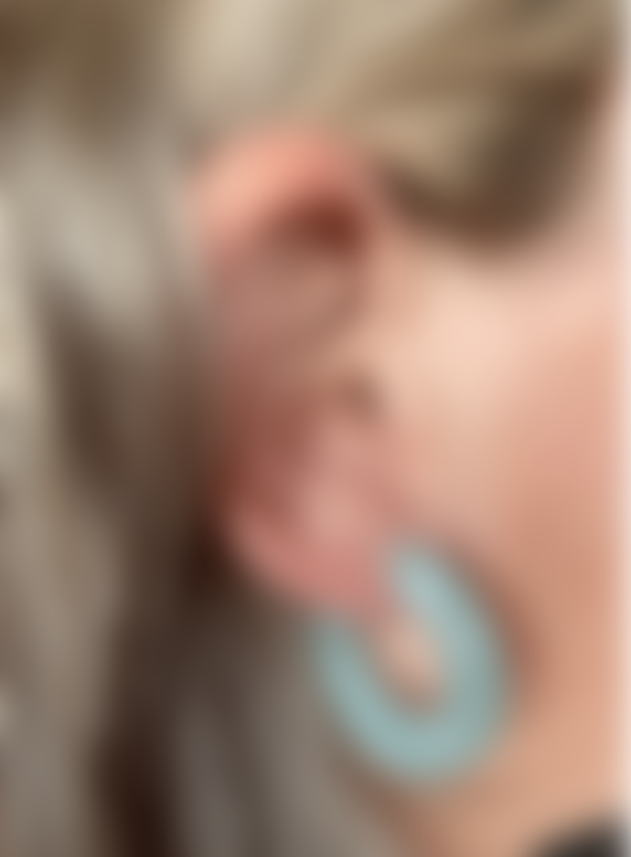 Big Metal Odette Resin Tiny Hoop Earrings In Mint