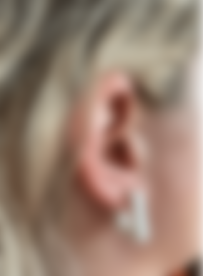 Big Metal Petra Mini Square Earrings In White