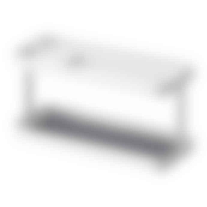 Yamazaki Tower Tablet Remote Control Storage Rack In White